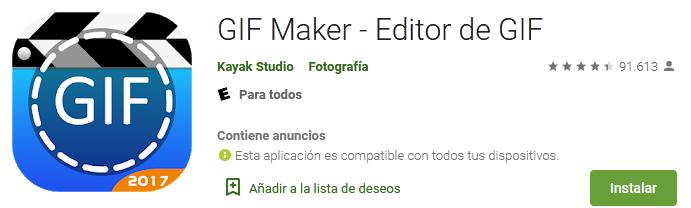 Gif maker – Editor de gif