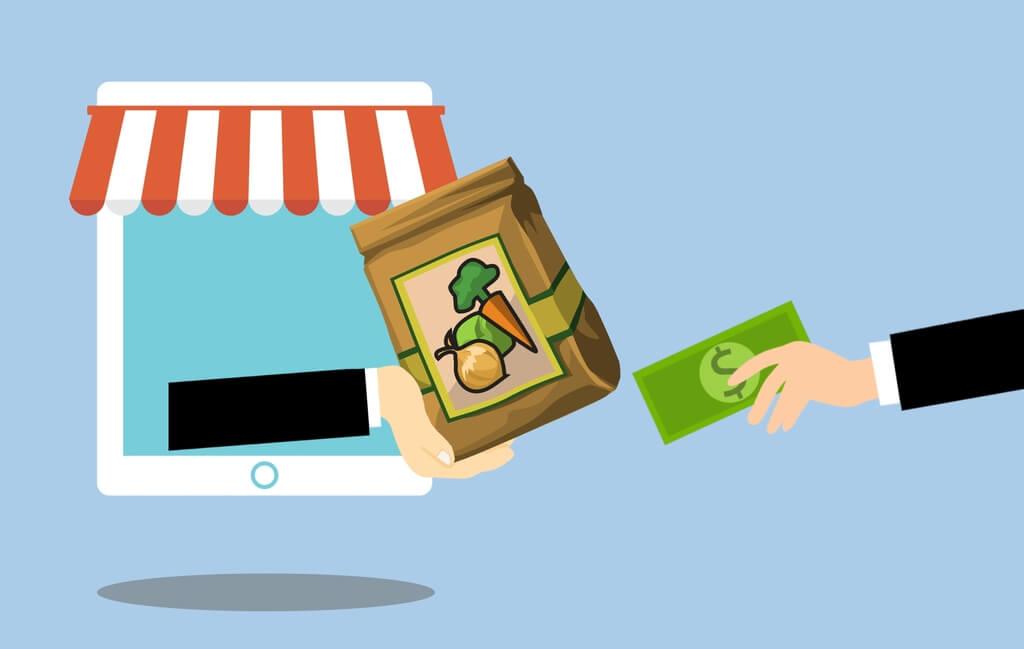 Sección de tienda online