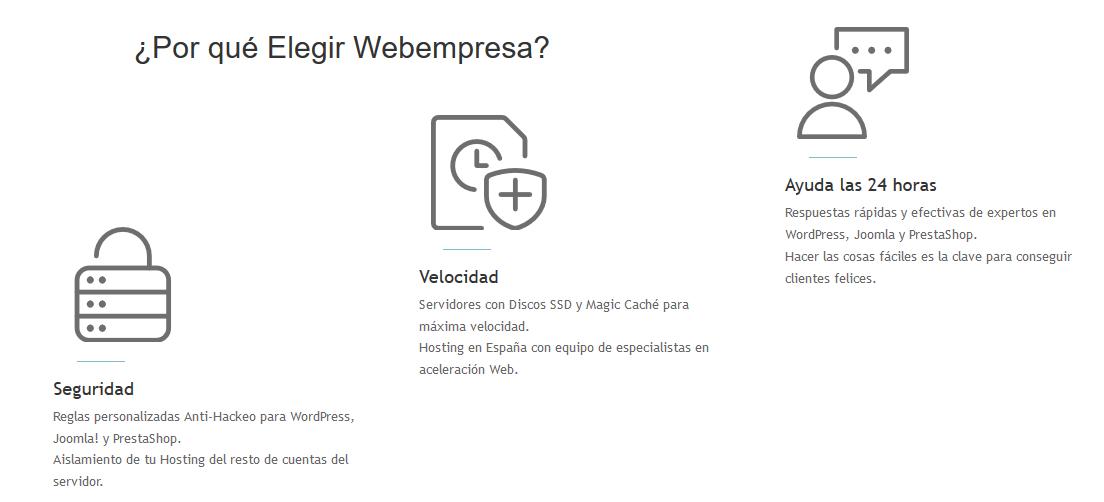 Características de Webempresa