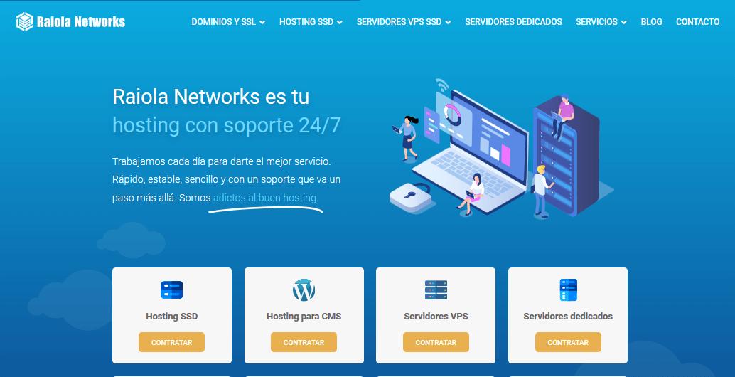 Raiola Networks: Reseña del hosting