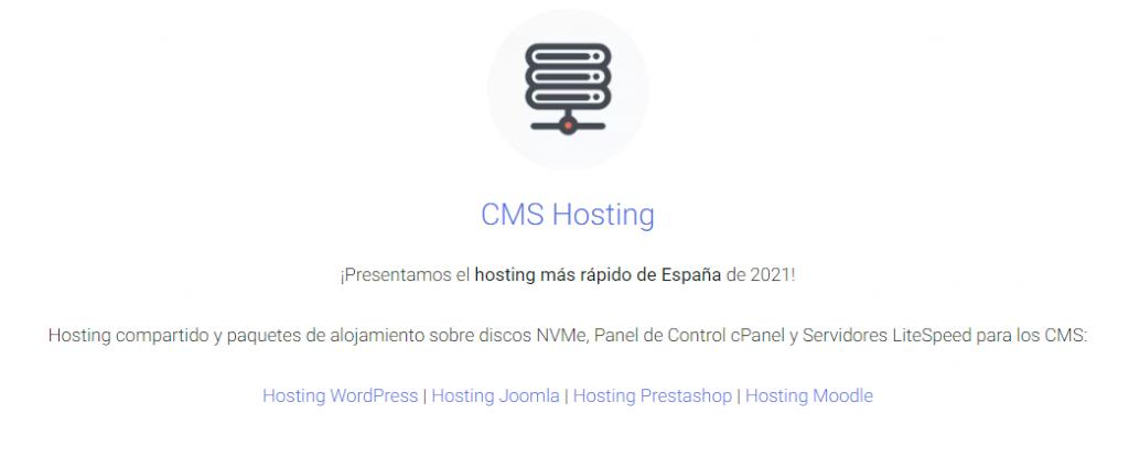 Hosting CMS de Tropical Server