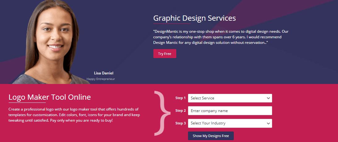 DesignMantic - Hacer logos en línea