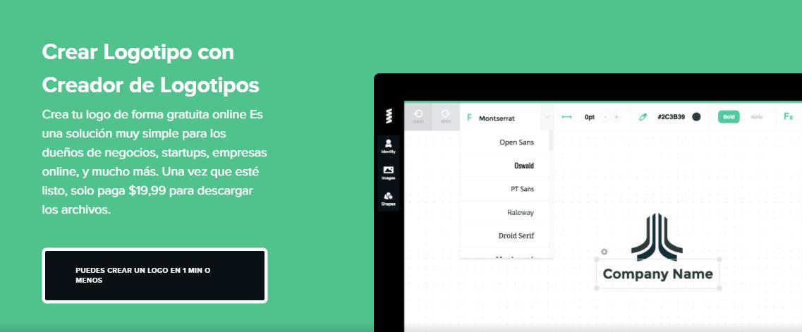 GraphicSprings - Hacer logos en línea